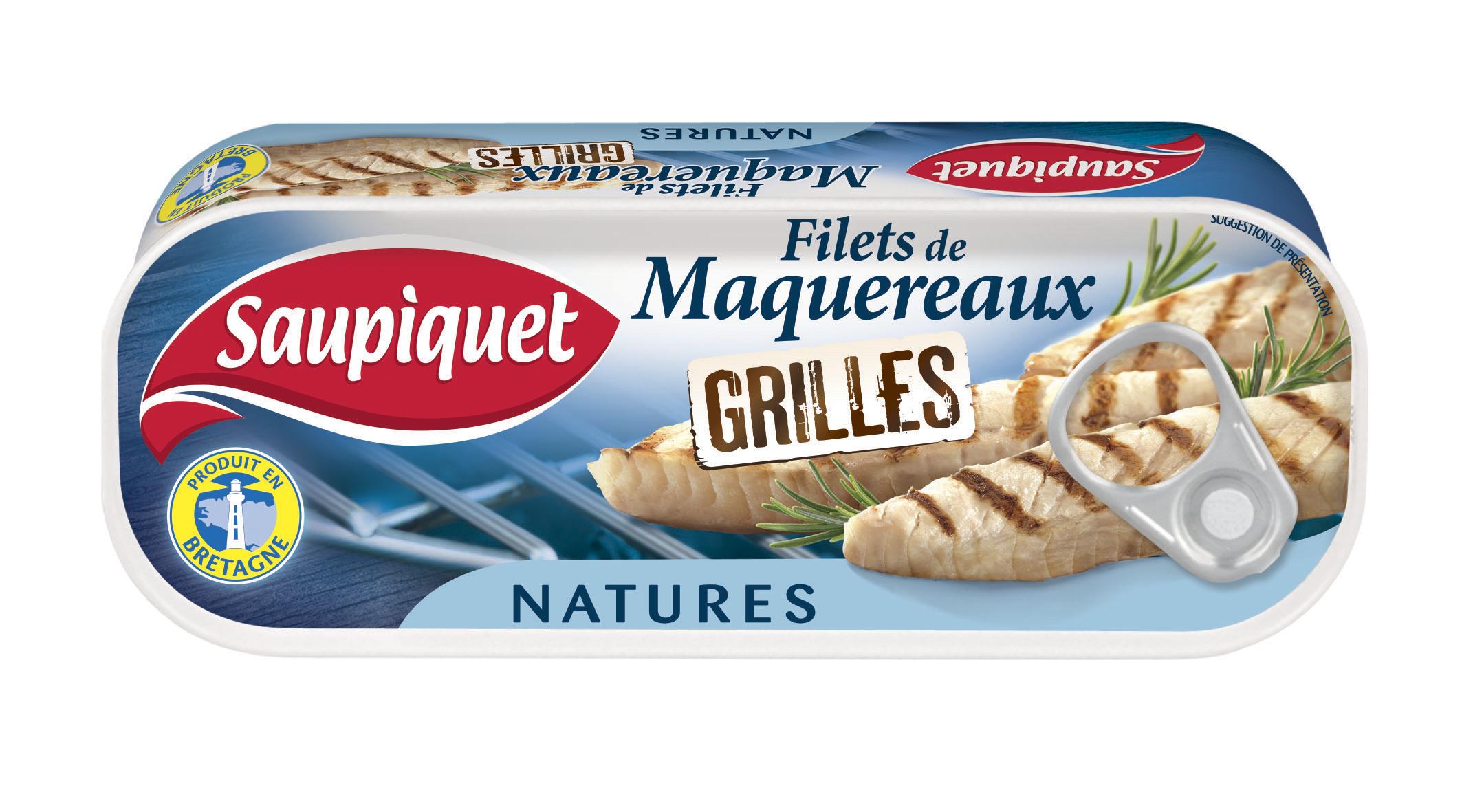 Filets de maquereaux grill s natures saupiquet donne des couleurs la mer - Maquereau grille au four ...