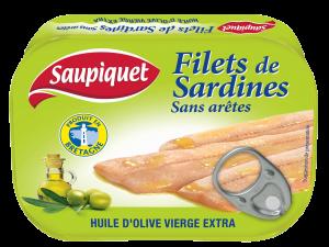 Filets de sardines huile d'olive vierge extra sans aretes