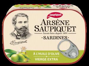 sardines arsene saupiquet huile d'olive vierge extra