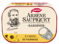 Sardines arsene saupiquet a l'huile de tournesol