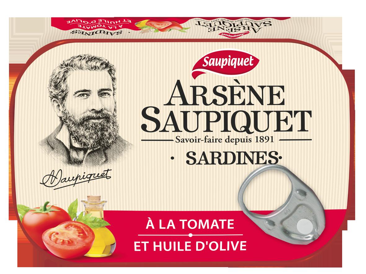 Sardines Arsene Saupiquet Tomate et Huile d'olive